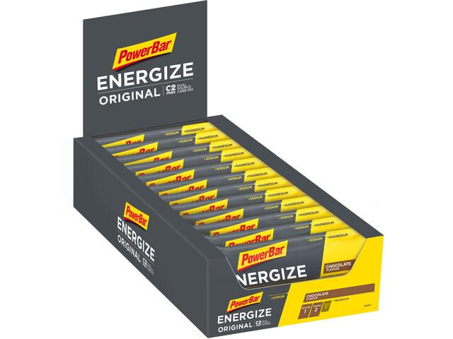 PowerBar Energize Original Bar Box 25x55g, Chocolate